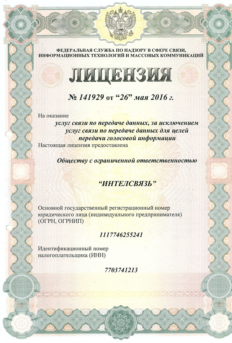 лицензия 141929